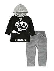 cheap -Toddler Boys' Basic Solid Colored / Print / Color Block Long Sleeve Clothing Set
