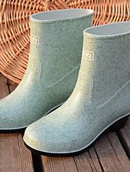 Недорогие -Жен. Обувь ПВХ Весна лето Резиновые сапоги Ботинки На низком каблуке Ботинки Зеленый / Миндальный