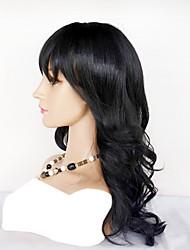 Недорогие -Натуральные волосы Полностью ленточные Парик Перуанские волосы Волнистый Парик Нейтральный Жен. Средние Накладки из натуральных волос