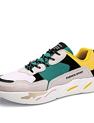 povoljno -Muškarci Cipele Brušena koža Ljeto Udobne cipele / Svjetleće tenisice Sneakers Crn / Sive boje / Brušena koža