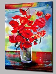 Недорогие -Hang-роспись маслом Ручная роспись - Натюрморт Цветочные мотивы / ботанический Modern холст