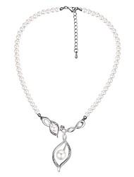 abordables -Femme Pendentif de collier - Perle, Imitation de perle Rétro, Mode Argent 40+5 cm Colliers Tendance 1pc Pour Cérémonie, Sortie