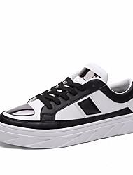 Недорогие -Муж. обувь Искусственное волокно Весна Удобная обувь Кеды для на открытом воздухе Черный Цвет радуги Черно-белый