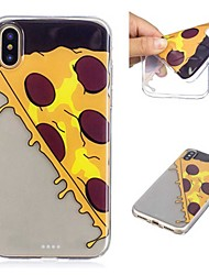 cheap -Case For Apple iPhone X / iPhone 8 Plus Transparent / Pattern Back Cover Food Soft TPU for iPhone X / iPhone 8 Plus / iPhone 8