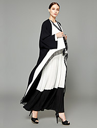 cheap -BENEVOGA Women's Street chic / Sophisticated Abaya - Creative / Voiles & Sheers / Color Block, Patchwork / Lace Trims