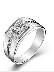 cheap -Men's Cubic Zirconia Band Ring - S925 Sterling Silver Classic, Fashion 9 Silver For Daily / Ceremony