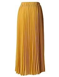 abordables -Mujer Activo / Básico Línea A / Columpio Faldas Un Color