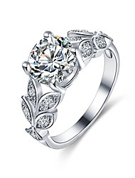 cheap -Cubic Zirconia Band Ring - Copper Leaf, Snowflake Classic, Fashion 6 / 7 / 8 Silver For Engagement Daily