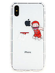 billiga -fodral Till Apple iPhone X / iPhone 8 Ultratunt Skal Tecknat Mjukt TPU för iPhone X / iPhone 8 Plus / iPhone 8