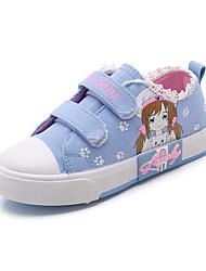 abordables -Fille Chaussures Toile / Polyuréthane Printemps été Confort Basket Marche Scotch Magique pour Adolescent Violet / Rose / Bleu clair