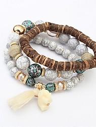 cheap -Women's Synthetic Tanzanite Layered / Stack Strand Bracelet - Elephant Vintage, Fashion, Multi Layer Bracelet White / Gray / Blue For Daily / Date / 3pcs