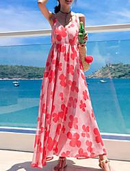 povoljno -ženska plaža swing haljina maxi remen