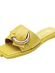 cheap -Women's Shoes Knit / PU(Polyurethane) Summer Novelty / Slingback Sandals Flat Heel Black / Light Yellow / Pink / White / Wedding