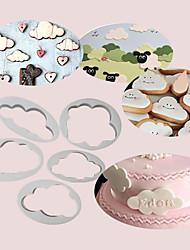 Недорогие -Инструменты для выпечки пластик Своими руками Торты / Печенье / Cupcake Формы для пирожных / Формы для нарезки печенья / Десертные инструменты 5 шт.