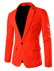 cheap -Men's Simple Casual Street chic Blazer-Solid Colored / Long Sleeve