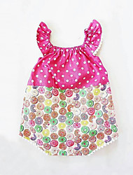 お買い得  -赤ちゃん 女の子 プリント ノースリーブ ボディスーツ