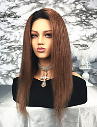 cheap -Remy Human Hair Lace Front Wig Brazilian Hair Straight Wig 130% Women's Long Human Hair Lace Wig