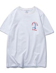 baratos -Homens Camiseta Vintage Estampado, Retrato