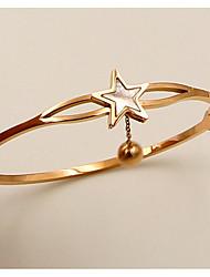Недорогие -Жен. Браслет цельное кольцо - Розовое золото, Золото 18K Шарообразные Массивный, европейский Браслеты Розовое золото Назначение Свадьба Повседневные