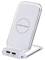 Недорогие -Беспроводное зарядное устройство Зарядное устройство USB Универсальный с кабелем / Несколько разъемов / Беспроводное зарядное устройство 2 USB порта 2 A DC 5V для iPhone X / iPhone 8 Pluss / iPhone 8