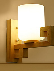 cheap -Cool Modern / Contemporary Wall Lamps & Sconces Bedroom / Study Room / Office Wood / Bamboo Wall Light 220-240V