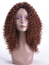 cheap -Synthetic Wig Curly Layered Haircut Synthetic Hair Party Brown Wig Women's Long Capless Dark Auburn