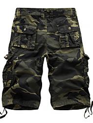 cheap -Men's Bootcut Pants - Camouflage Blue & White