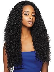 cheap -Virgin Human Hair 360 Frontal Wig Brazilian Hair Curly Wig With Ponytail 180% Women Natural Women's Long Human Hair Lace Wig