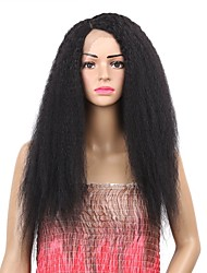 cheap -Synthetic Wig / Synthetic Lace Front Wig Curly Ombre Side Part Synthetic Hair Synthetic / Best Quality / New Arrival Black / Ombre Wig Women's Mid Length Lace Front / Capless Medium Brown / Fashion