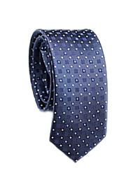 abordables -Homme Coton / Polyester Travail / Basique Cravate Points Polka / Couleur Pleine / Toutes les Saisons