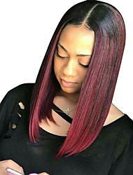 cheap -Remy Human Hair Lace Front Wig Brazilian Hair Straight Wig Short Bob 130% Women's Short Human Hair Lace Wig