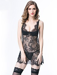 cheap -Women's Babydoll & Slips / Gartered Lingerie / Garters & Suspenders Nightwear - Lace, Floral / Embroidered