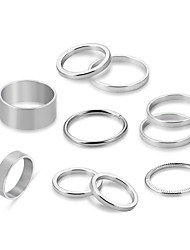 cheap -Couple's Rope / Stackable Rings Set - Alloy Punk, Rococo, Casual / Sporty Silver For Ceremony / Date