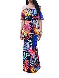 cheap -Women's Vintage / Boho Bodycon Dress - Floral