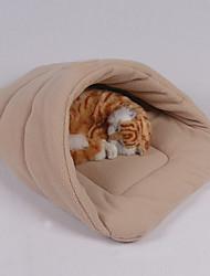 Недорогие -Мини / Сохраняет тепло / Мягкий Одежда для собак Кровати Однотонный / Мода Синий / Розовый / Винный Собаки / Кролики / Коты