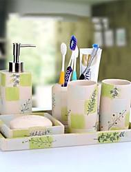 Недорогие -Набор аксессуаров для ванной Новый дизайн / Творчество Modern Резина 6шт - Ванная комната Односпальный комплект (Ш 150 x Д 200 см)