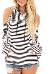 cheap -Women's Basic T-shirt - Striped Backless / Lace up