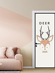cheap -Decorative Wall Stickers / Door Stickers - Animal Wall Stickers / Holiday Wall Stickers Animals / Christmas Decorations Living Room /