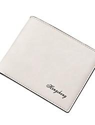 cheap -Men's Bags PU(Polyurethane) Wallet Split Front White / Black