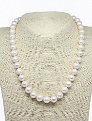 cheap -Women's Freshwater Pearl Choker Necklace  -  Sterling Silver, Freshwater Pearl Natural, Fashion, Elegant White 45 cm Necklace 1pc For Party, Gift