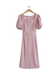 preiswerte -Damen Street Schick Hülle Kleid Hahnentrittmuster Midi