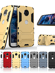 cheap -Case For Motorola MOTO G5 Plus / MOTO G5 with Stand Back Cover Solid Colored Hard PC for Moto G5s Plus / Moto G5s / Moto G5 Plus