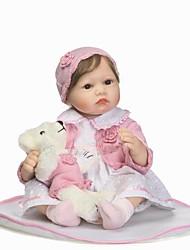 Недорогие -NPKCOLLECTION NPK DOLL Куклы реборн Кукла для девочек Девочки 24 дюймовый Силикон - как живой Подарок Безопасно для детей Non Toxic Гофрированные и запечатанные ногти Естественный тон кожи Детские
