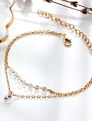 cheap -Women's Chain Bracelet - Heart Dainty, Double Layered, Fashion Bracelet Gold For Gift / Daily