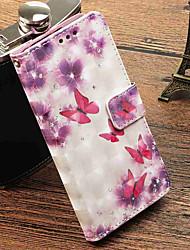 abordables -Funda Para Xiaomi Redmi Note 5A / Mi 5X Cartera / Soporte de Coche / con Soporte Funda de Cuerpo Entero Mariposa Dura Cuero de PU para Redmi Note 5A / Xiaomi Redmi Note 4X / Redmi 5A