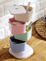 baratos -jarros rotativos sal tempero galheteiro conjunto para especiarias titular cozinha