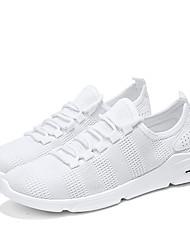 Недорогие -Муж. Легкие подошвы Трикотаж / Сетка Лето Удобная обувь Кеды Белый / Черный / Серый