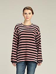 economico -Per donna Attivo / Essenziale Sleeve Lantern Pullover A strisce