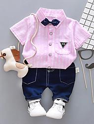 Недорогие -малыш Мальчики На каждый день / Классический Спорт С принтом С принтом Длинный рукав Хлопок Набор одежды / Дети (1-4 лет)