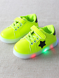 cheap -Boys' / Girls' Shoes PU(Polyurethane) Spring / Fall Comfort / Light Up Shoes Sneakers Lace-up / Magic Tape / LED for Kids / Baby Black / Green / Pink